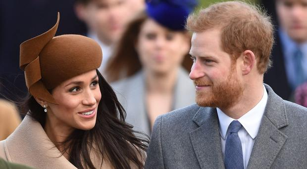 Meghan Markle joined Prince Harry and the royal family for the Christmas Day service at Sandringham (Joe Giddens/PA)