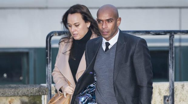 Trevor Sinclair outside Blackpool Magistrates' Court (PA)