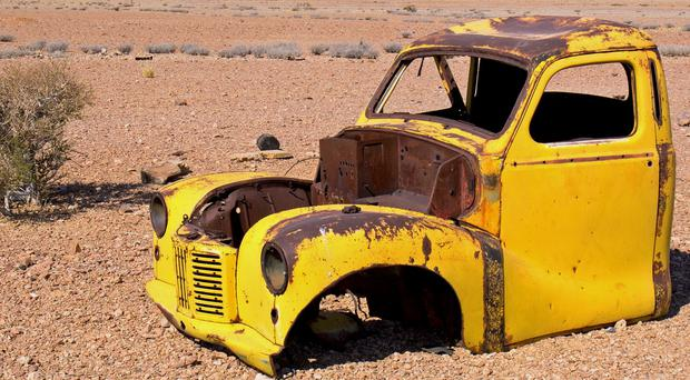 An abandoned car in Namibia (David McKeran/PA)