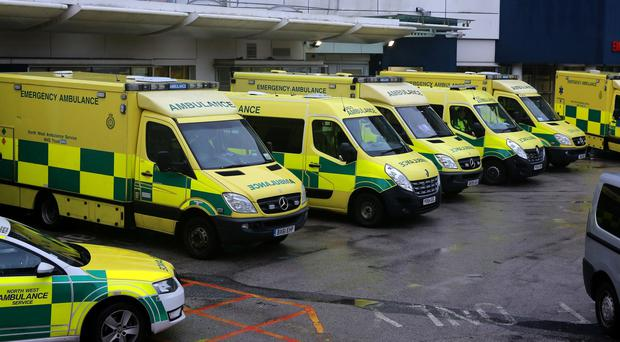 The Department of Health says ambulance crews should be able to hand patients over to AandE staff within 15 minutes of arrival at hospital (Peter Byrne/PA)
