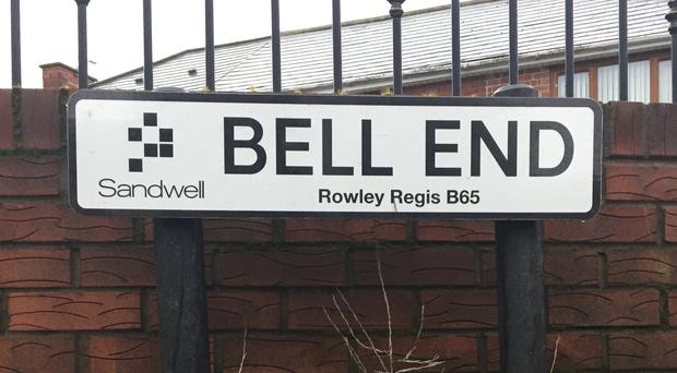 A road sign in Bell End, Rowley Regis, West Midlands (Matthew Cooper/PA)