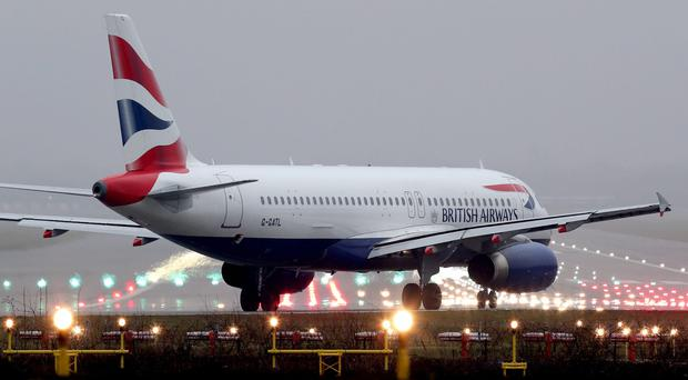 BA will operate about 1,150 weekly flights ffrom London Gatwick this year (Gareth Fuller/PA)