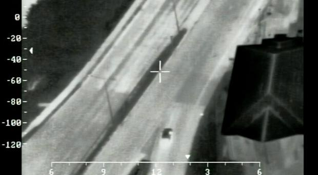 Darryl Dempsey trying to evade officers by attempting to drive the wrong way down a busy motorway (Hampshire Police/PA)