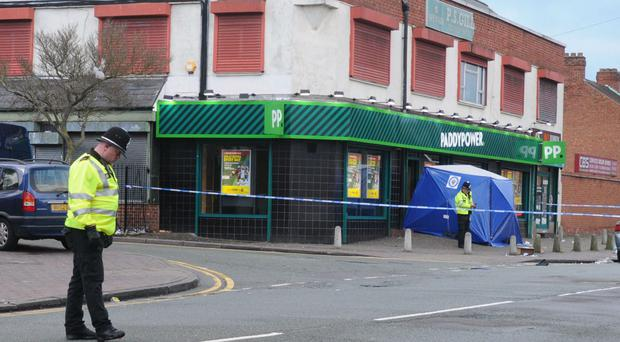 The man died at a branch of Paddy Power in Rookery Road, Handsworth, Birmingham (Matthew Cooper/PA)