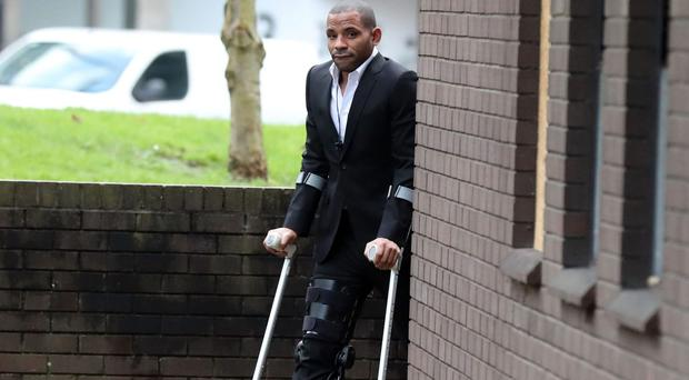 Crystal Palace captain Jason Puncheon arrives at Guildford Magistrates' Court (Steve Parsons/PA)