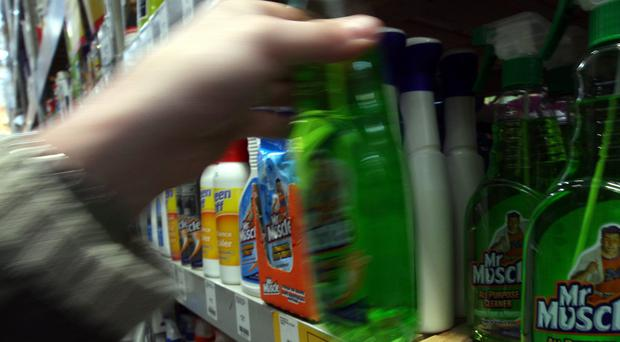 Cleaning products containing high levels of corrosive substances will not be sold to minors, under the voluntary plan (Steve Parsons/PA)