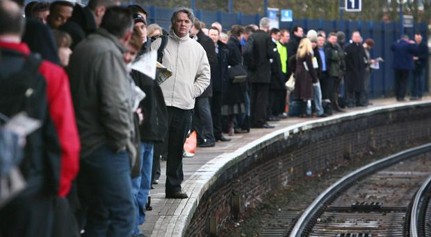 Rail services are disrupted due to strikes (Gareth Fuller/PA)