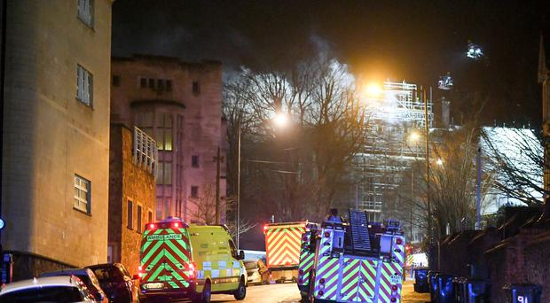 The fire at the Fry Building in Bristol (Ben Birchall/PA)