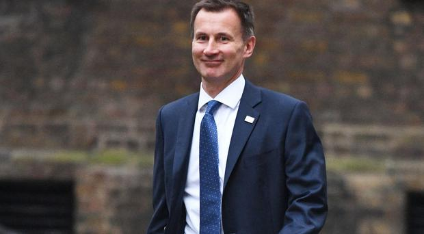 Jeremy Hunt's job title has changed from Health Secretary to Secretary of State for Health and Social Care (Stefan Rousseau/PA)