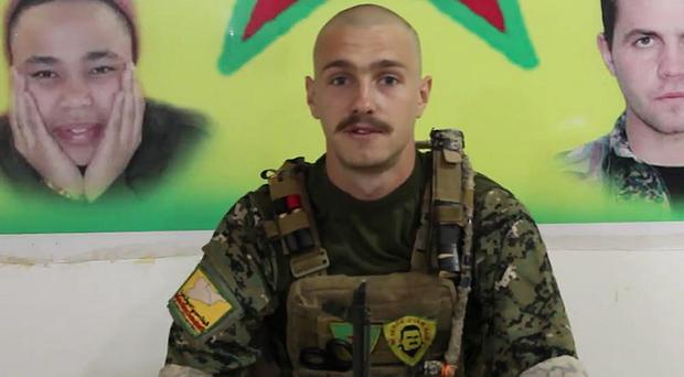Oliver Hall was killed whilst clearing mines in Syria (YPG/PA)