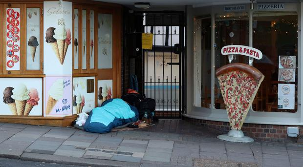 A person sleeping rough in Windsor (PA)