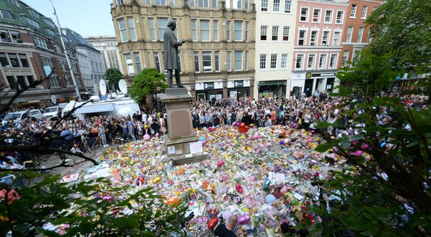 22 people were killed in the attack (Ben Birchall/PA)