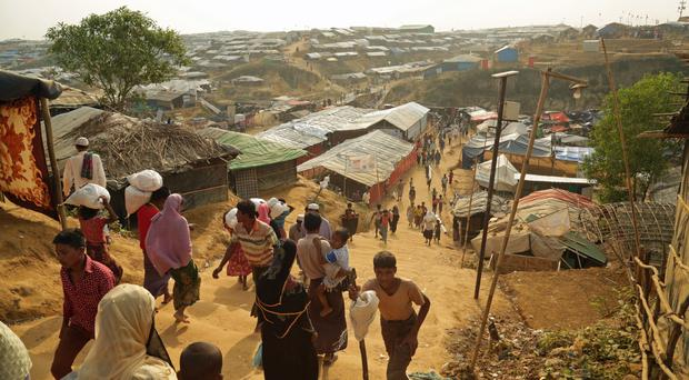 Many Rohingya refugees have been living in camps in Bangladesh after fleeing violence in Burma
