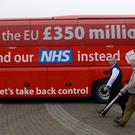 The Leave campaign attracted criticism for printing a slogan on the side of its battlebus that said: