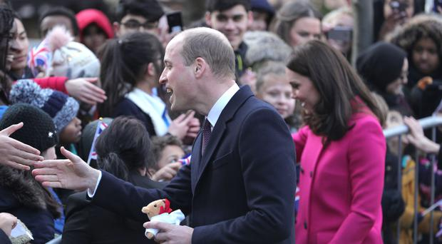 The Duke and Duchess of Cambridge meet the public at Coventry Cathedral
