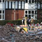 Emergency services at the scene of a gas explosion in Bebington, on the Wirral (Danny Lawson/PA)