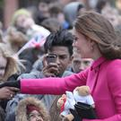 The Duchess of Cambridge met the public during a visit to Coventry (Aaron Chown/PA)
