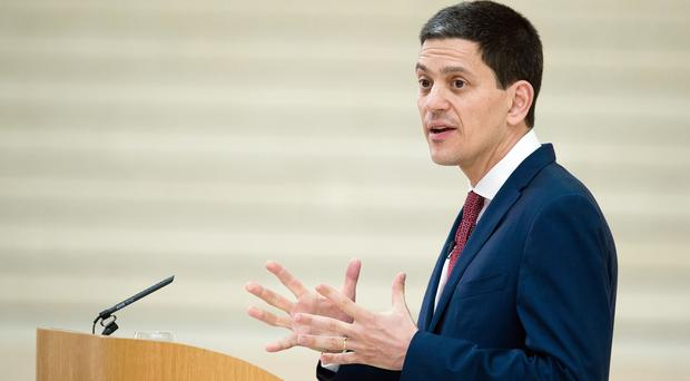 David Miliband has urged the UK to do more to highlight the crisis in Syria (Leon Neal/PA)