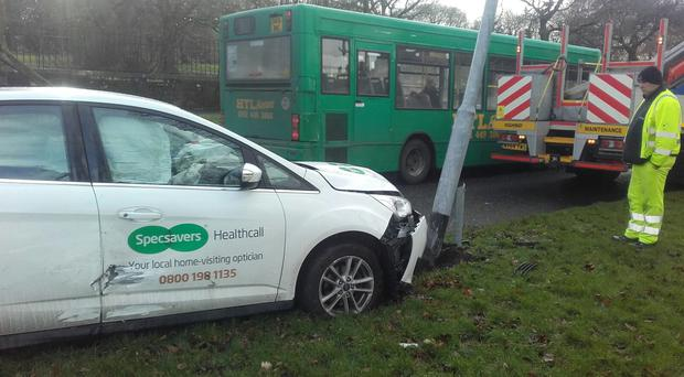 The crash happened in the suburb of Woolton in Liverpool (Liverpool City Council/PA)