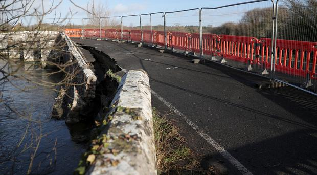 A view of the damage to Wool Bridge (Andrew Matthews/PA)