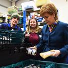 Nicola Sturgeon visits food bank
