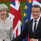 Theresa May will host summit talks with Emmanuel Macron (Yui Mok/PA)
