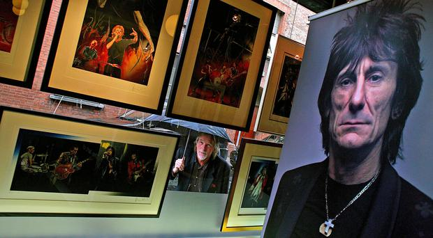 Cotswold art dealer Jonathan Poole at the launch of a Ronnie Wood art exhibition in Number One gallery, Dublin (Julien Behal/PA)