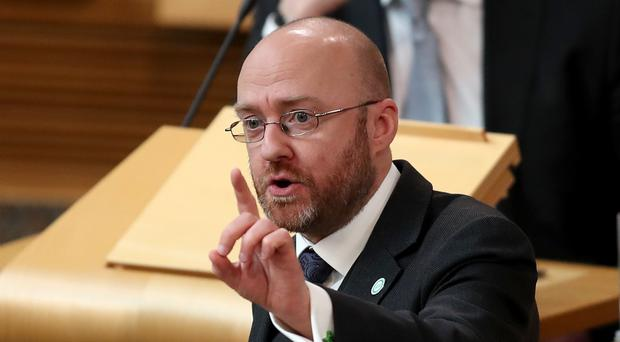 Patrick Harvie questioned the First Minister on short-term lets (Jane Barlow/PA)