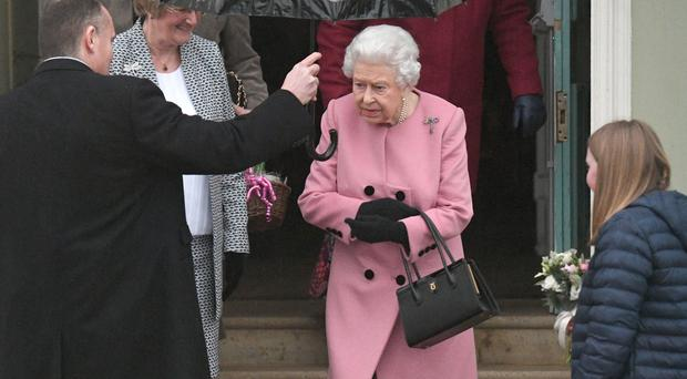 The Queen leaves after meeting members of the Women's Institute (Victoria Jones/PA)