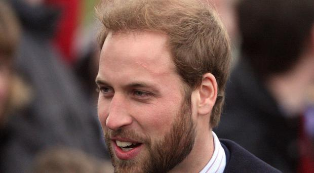 William went for a complementary beard on Christmas Day at Sandringham in 2008 (Lewis Whyld/PA)