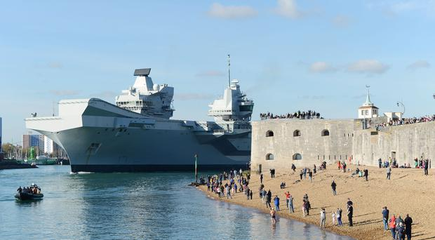 HMS Queen Elizabeth is one of the ships in the Carrier Strike programme. (AB Belinda Alker/Ministry of Defence)