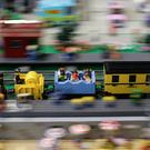 A Lego train set during the London Model Engineering exhibition (Yui Mok/PA)