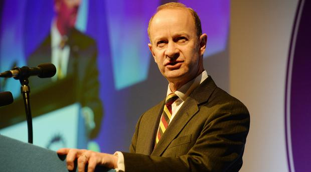 Ukip party leader Henry Bolton speaks during the Ukip National Conference at the Riviera International Centre in Torquay. (Ben Birchall/PA)