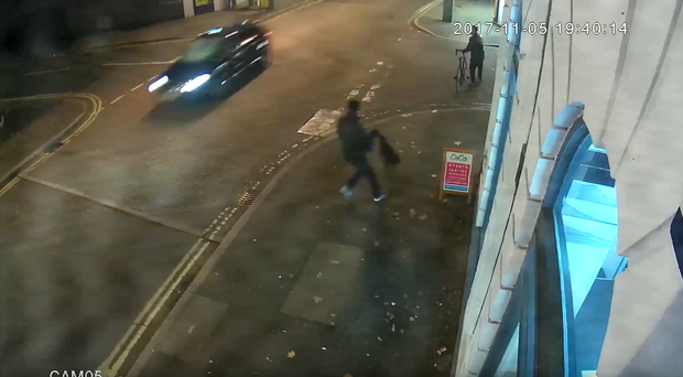 CCTV shows the moment a pedestrian was mowed down by a car (Derbyshire Police)