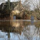 The water level reaches nearly five feet at a ford near Charvil, Berkshire (Steve Parsons/PA)