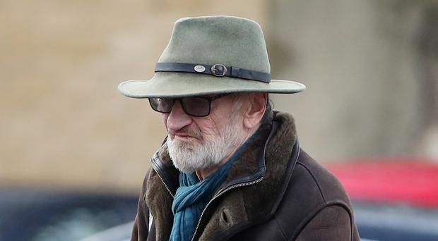 Actor John McEnery arrives at Maidstone Crown Court in Kent