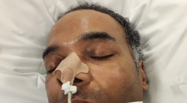 Police are trying to trace relatives of a man found collapsed outside UCLH on Boxing Day (Met Police/PA)