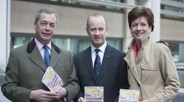 Henry Bolton has been backed by former Ukip leaders Nigel Farage and Diane James (Lauren Hurley/PA)