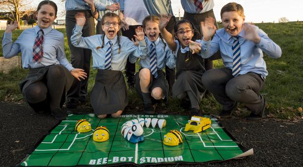 Mount Vernon Primary School pupils get to grips with new technology (BT/PA)