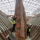 Chimneys on the National Trust property The Vyne, near Basingstoke, Hampshire, are unveiled as part of a £5.4m conservation project (Andrew Matthews/PA)