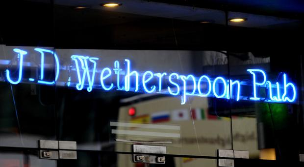 There was no steak on the menu at Wetherspoon on steak club night (Tim Ireland/PA)