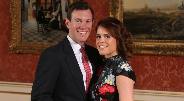 Princess Eugenie and Jack Brooksbank in the Picture Gallery at Buckingham Palace