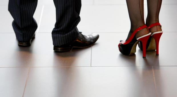"Hostesses at the Presidents Club fundraiser were allegedly told to wear ""sexy"" black shoes for their shift (Dave Thompson/PA)"