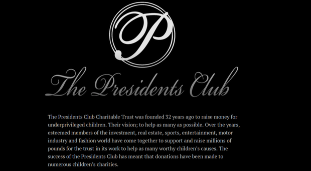 Allegations have emerged of sexual harassment at the Presidents Club annual fundraiser (Screenshot/Presidents Club)