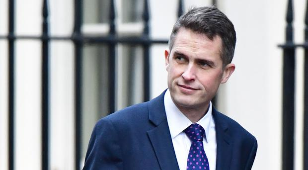Defence Secretary Gavin Williamson (Dominic Lipinski/PA)