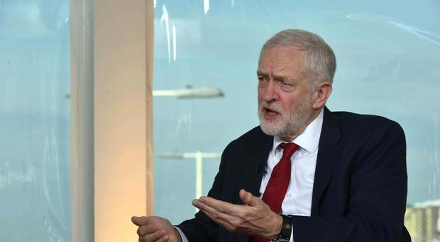 Labour leader Jeremy Corbyn appearing on The Andrew Marr Show (BBC/PA)