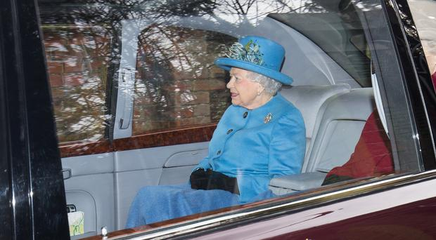 The Queen after attending St Mary Magdalene Church in Sandringham (Aaron Chown/PA)