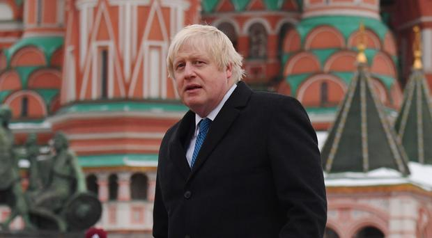 Boris Johnson urged Russia to stand by its commitments made to international bodies to allow freedom of expression (Stefan Rousseau/PA)