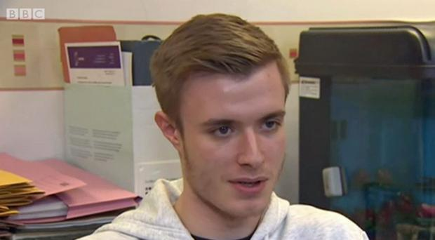 Liam Allan was falsely accused of rape (BBC News/PA)