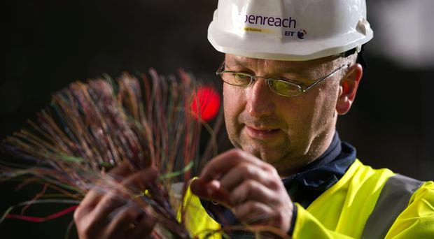 Openreach, which is owned by BT but independently run, said it will recruit 3,000 engineers this year to underpin a vast expansion of the network. (Malcolm Cochrane/BT/PA)